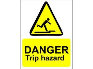 Danger Trip Hazard Sign