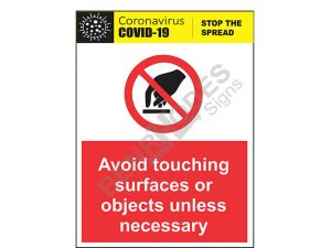 CD (1) - Avoid Touching Objects or Surfaces