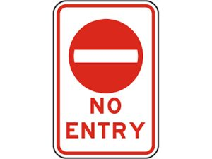 No entry 1