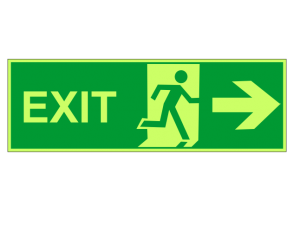 Exit Photoluminescence Signs